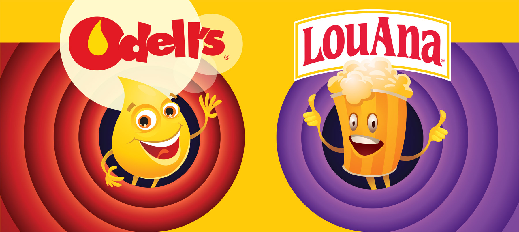 Odell's and LouAna, Industry leaders in premium popping and topping products for popcorn.